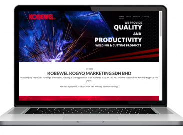 AdsMunch Web Design Malaysia | Our work for Welding and Cutting Products Company