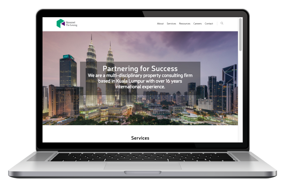 AdsMunch Web Design Malaysia | Our work for a Real Estate Research and Consulting Services company