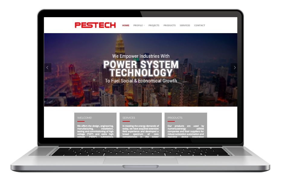 AdsMunch Web Design Malaysia | Our work for an Electrical and Power Supply Engineering Company