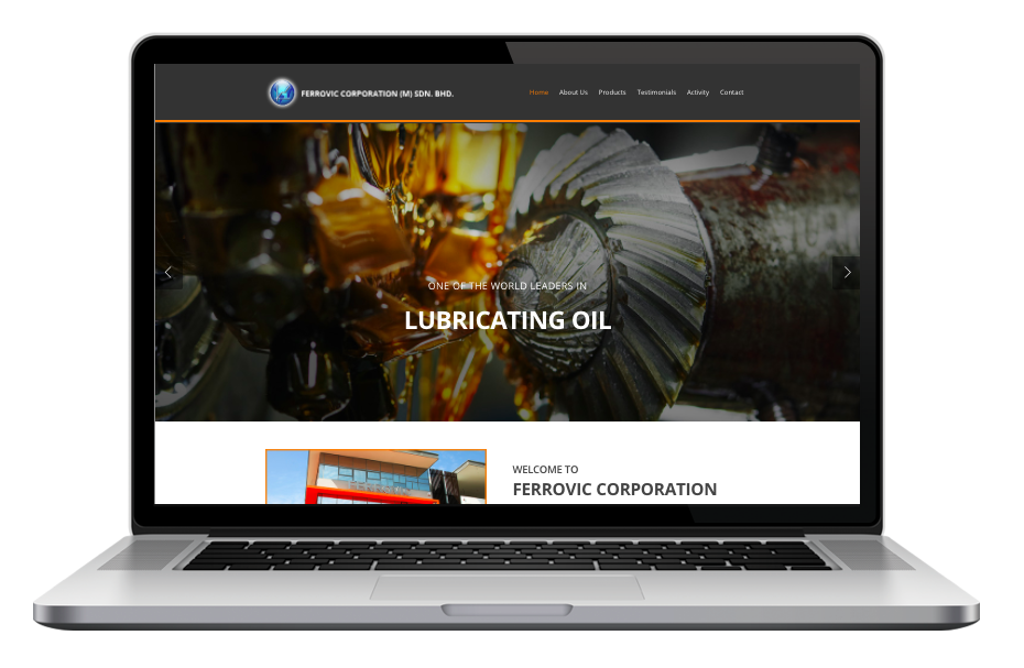 AdsMunch Web Design Malaysia | Our work for an Industrial and Automotive Lubricants Manufacturer