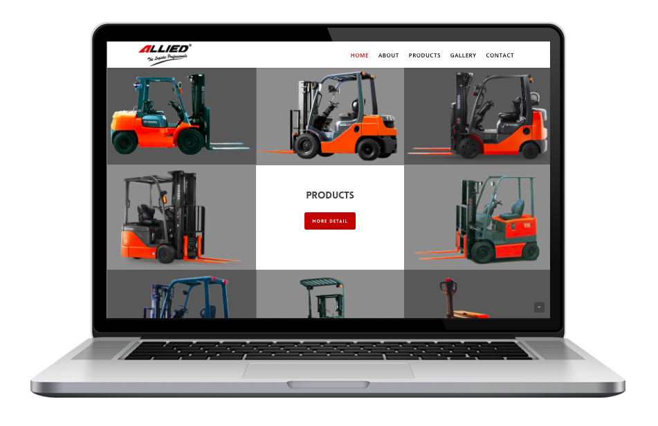 AdsMunch Web Design Malaysia | Our work for a Material Handling Equipment Company