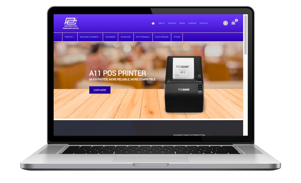 AdsMunch Web Design Malaysia | Our work for a Industrial Digital Equipment Supplier