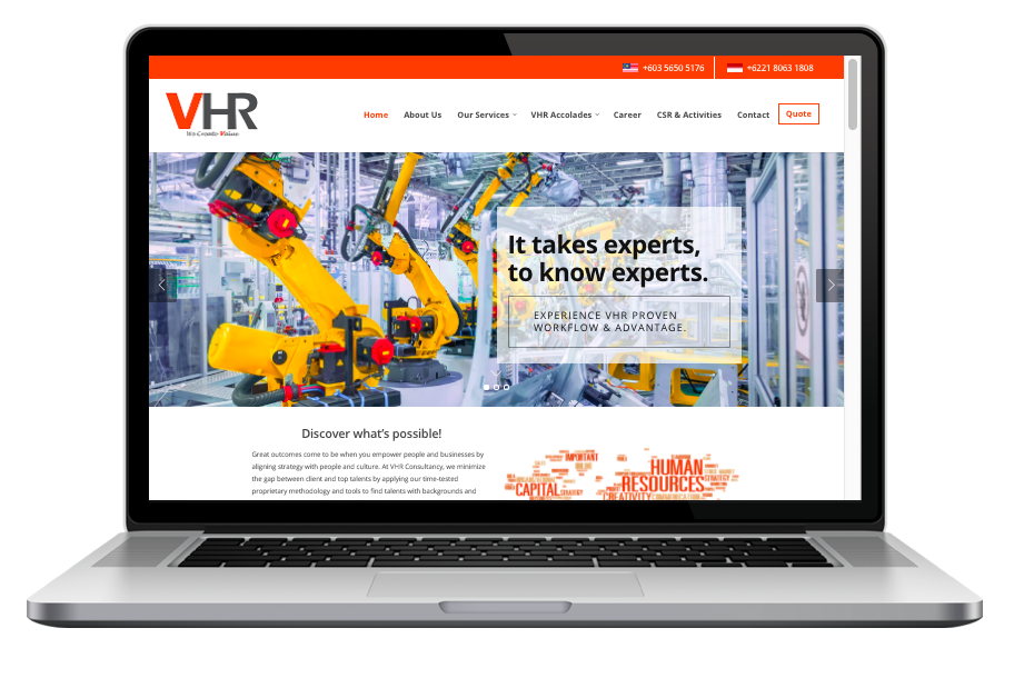 AdsMunch Web Design Malaysia | Our work for an Engineering Specialists Recruitment Agency