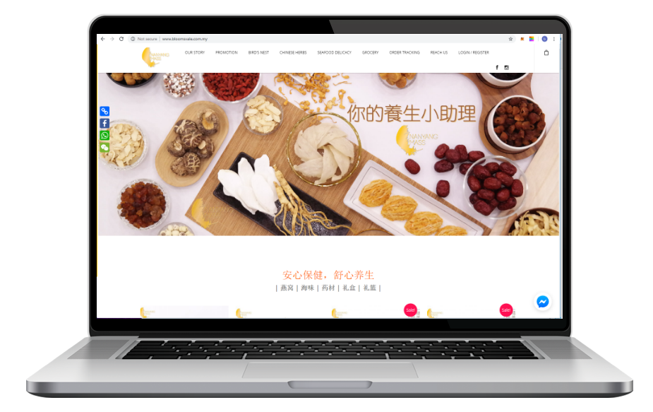 AdsMunch Web Design Malaysia | Our work for a Birds Nest Supplier