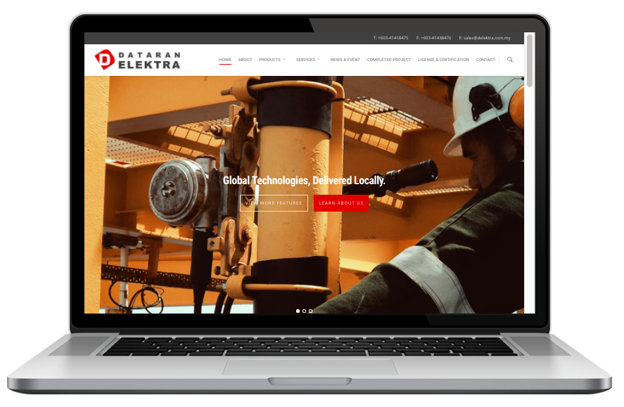 AdsMunch Web Design Malaysia | Our work for an Engineering Company