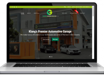 AdsMunch Web Design Malaysia | Our work for a Premier Automotive Garage in the Klang Valley