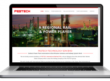 AdsMunch Web Design Malaysia | Our work for a Power Plant Automation & Electrification and Railway System Engineering Company