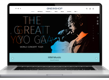 AdsMunch Web Design Malaysia | Our work for a Music Company