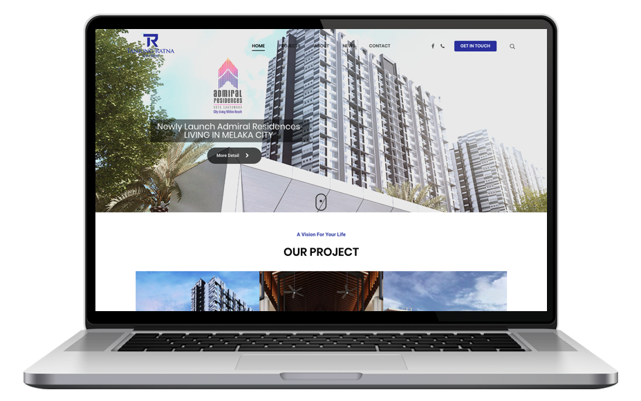 AdsMunch Web Design Malaysia | Our work for a Property Development Company
