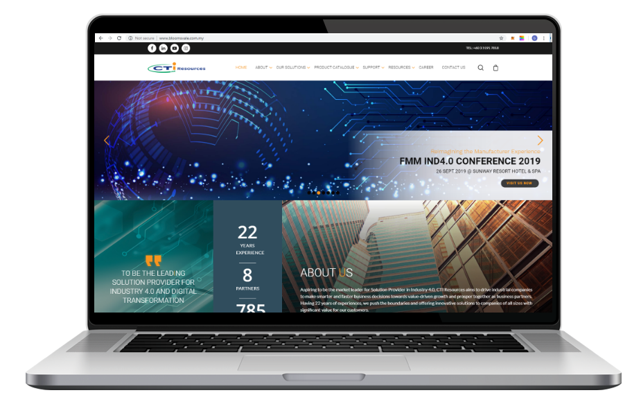 AdsMunch Web Design Malaysia | Our Web Application work for a 'The Industrial Internet of Things (IIoT)' provider