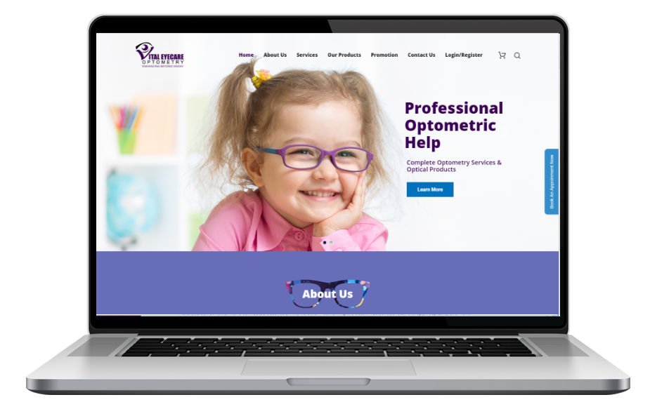 Adsmunch Web Design Malaysia | Our work for eye care provider